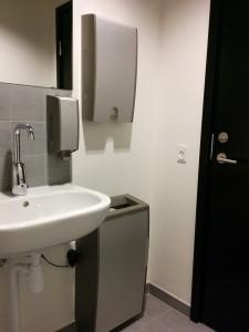 Tork dispensere på toilet