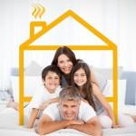 Familie under et hus logo